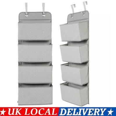 4 Tier Over The Door Hanging Shoe Rack Organiser Stand Shelf Holder Storage Bag