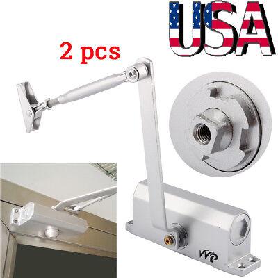 2pcs Adjustable Overhead Door Closer Automatic Fireproof For Door Weight 45-65kg