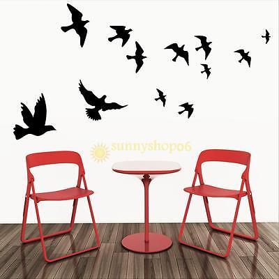 Flying Pigeon Bird Living Room Bedroom Home Decor Art Mural Vinyl Wall Sticker