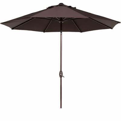 Abba 9-foot Auto Tilt and Crank Aluminum Patio Umbrella