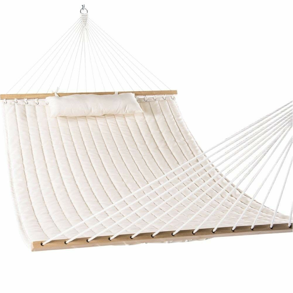 55 double quilted fabric hammock swing