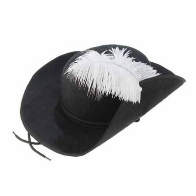 Three Musketeers Hat Feather Cap Pirate Buccaneer Adult Costume 3 Accessory](3 Musketeer Costume)