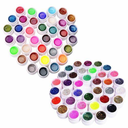 72 Nail Art UV Gel Set Farbgel Effekt-Gele Funkeln Nagel Design Für Fingernägel