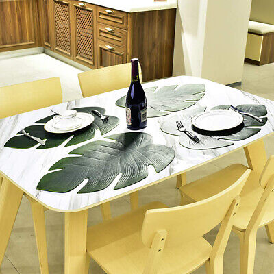 1Pc Artificial Monstera Leaf Kitchen Placemat Mat Bowl Anti-Slip Pad Table Decor Home & Garden