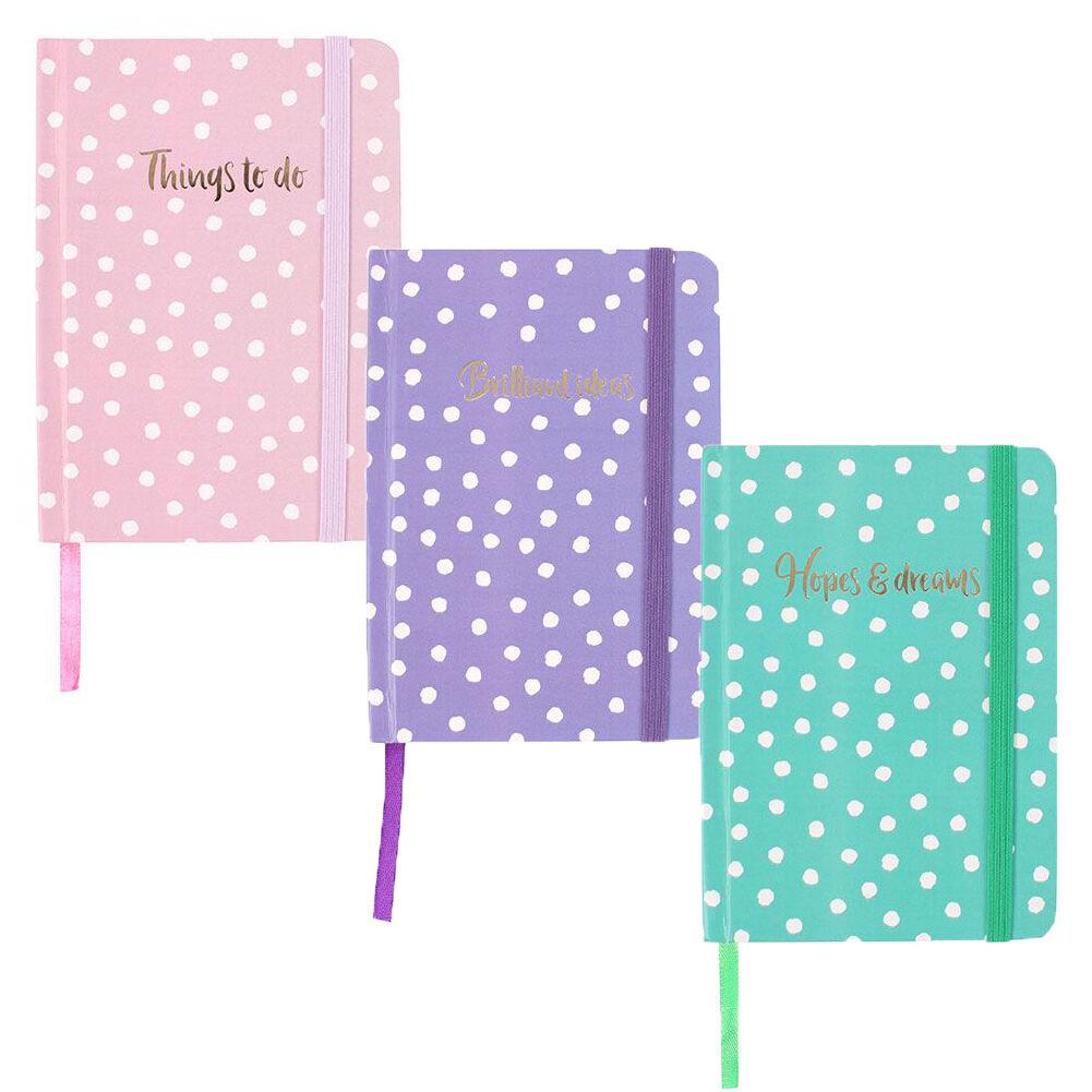 A6 Tagebuch Mädchen Gepunktet Notizbuch Hardcover Buch Deckel Planer