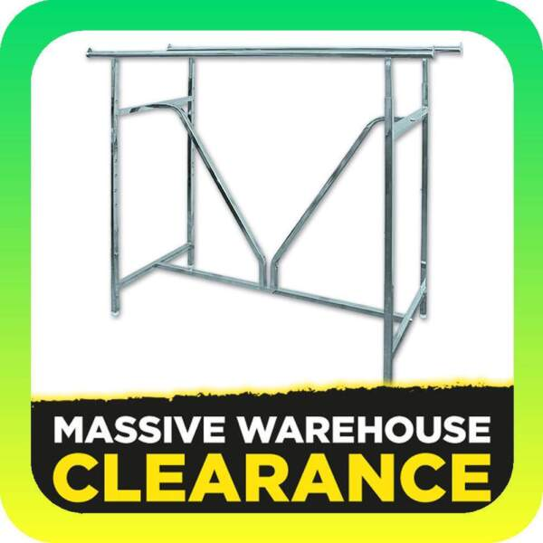 Heavy Duty Double Rail With V Brace Clothes Display Rack Commeric
