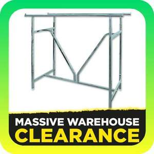 Heavy Duty Double Rail With V Brace Clothes Display Rack Commeric Tullamarine Hume Area Preview