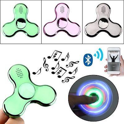 LED Fidget Spinner with Bluetooth Speaker Hand Spinner Toy EDC for Kids Adults