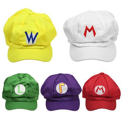 Super Mario Bros Kappe Hut Cosplay Kostüm Wario - Super Mario Hut Kostüme