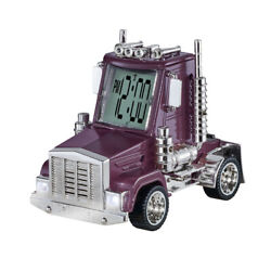 Big Rig Truck Alarm Clock with Moving Wheels, Truck Sounds and Working Lights