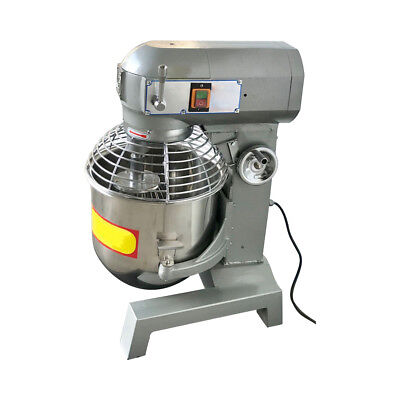 Three Speed 30qt Commercial Dough Food Mixer Gear Driven Pizza Bakery 2.4hp