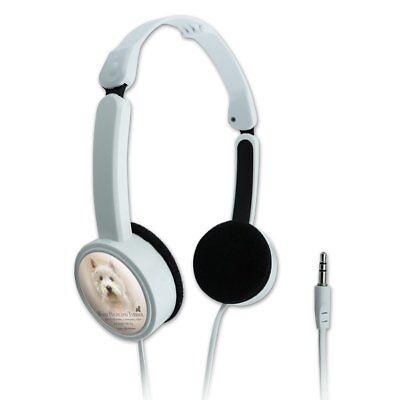 West Highland Terrier Westie Dog Breed Portable Foldable On-Ear Headphones