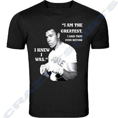 Muhammad Ali Victory Over Liston Classic Boxing T Shirt Shirt Black Tee New