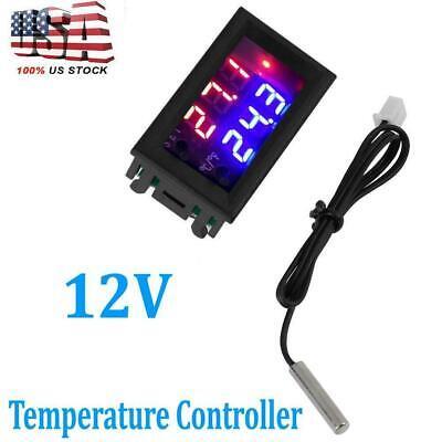 Digital Led Microcomputer Thermostat Controller Switchtemperature Wsensor 12vdc