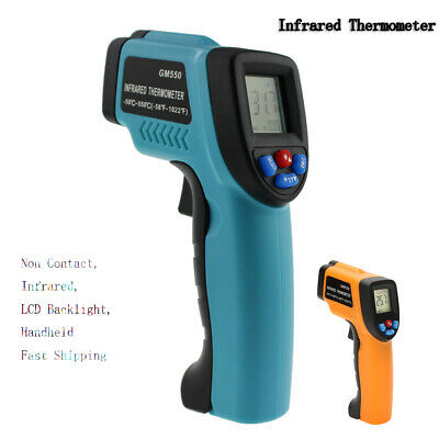 Non-contact Lcd Ir Laser Infrared Temperature Thermometer Gun Pyrometers Happy