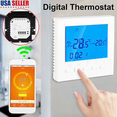 Wifi Wireless Digital LCD Display Thermostat Room Heating Temperature Controller