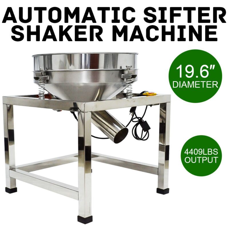 Electric Stainless Steel Vibrating Sieve Machine Automatic Sifter Shaker Φ19.6""