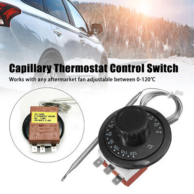 0-120℃ Car Capillary Thermostat Control Switch Cooling Radiator Fan TS-120SB