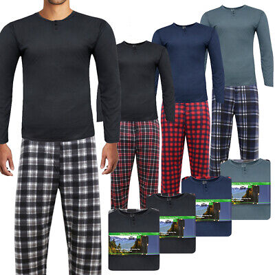 Rugged Frontier Men's Plaid Fleece 2 Piece Loungewear Pajama Set Clothing, Shoes & Accessories