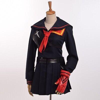 Anime KILL La KILL Cosplay Costume Ryuko Matoi Dark Blue Uniform Whole Set (Ryuko Cosplay Kostüm)