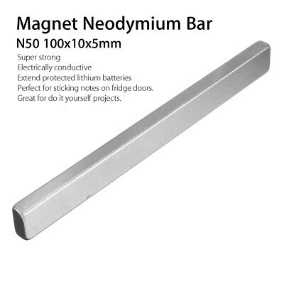 100x10x5mm N50 Long Cuboid Block Bar Super Strong Rare Earth Neodymium Magnets