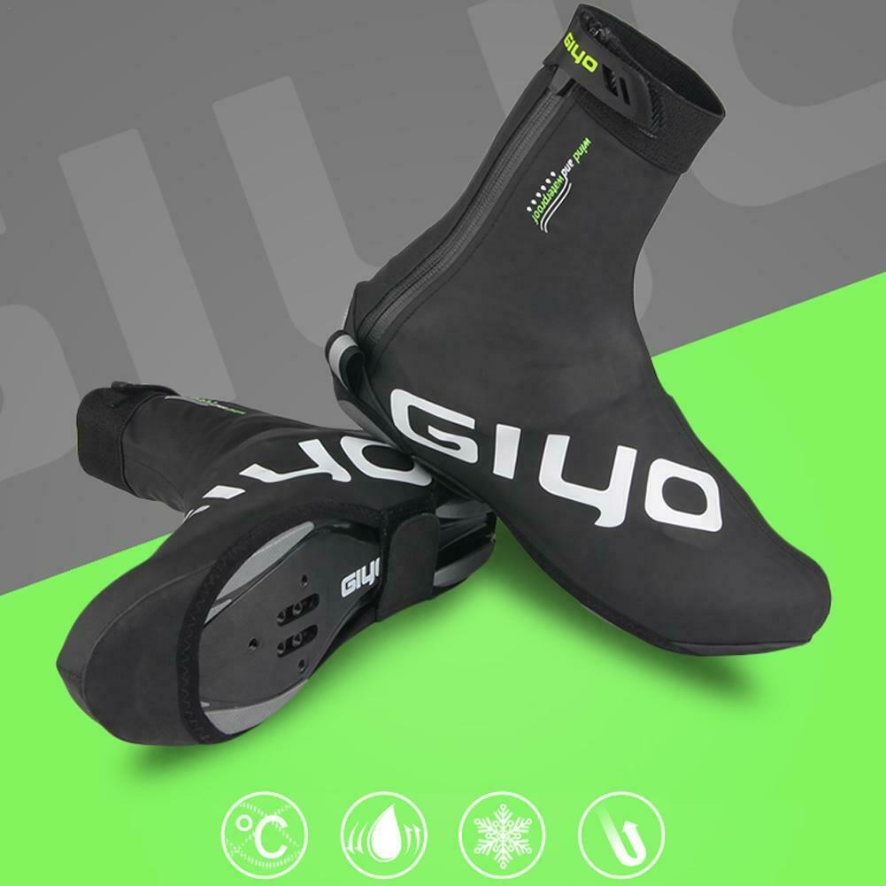 Cycling Shoes Cover Bicycle Outdoor Sport Overshoe Waterproof Warm Thermal Black