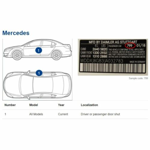 9134 Touch Up Paint for Mercedes Benz MB Silver VITO V KLASSE MAYBACH METRIS 134