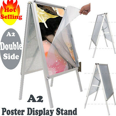 A2 A-Board Pavement Sign Poster Advertising Shop Board Snap Frame Display Stand