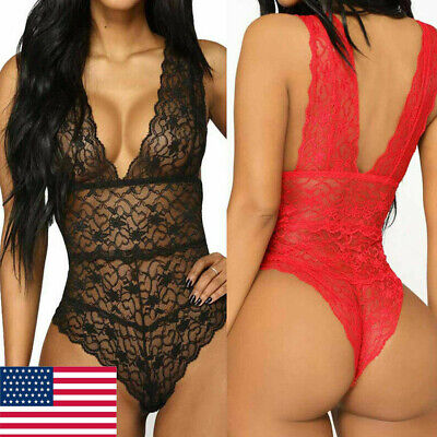 Sexy Women Sleepwear Underwear Bodysuit Lingerie Playsuit Party Romper Jumpsuit