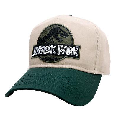 Jurassic Park Movie Logo Forest Green Sci fi Patch Khaki Green Snapback Cap Hat