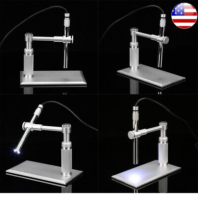 2mp Usb Digital Microscope 500x 8led Video Camera Stand Webcam Magnifier Loupe