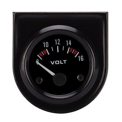 52mm Universal Car Pointer Voltage Meter Gauge Voltmeter 8-16V LED Light- UK HOT
