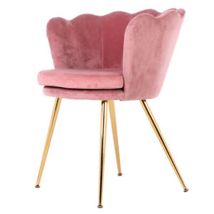 Velvet Oyster Scallop Shell Tub Chair Seat Armchair Wingback Sofa Living Room