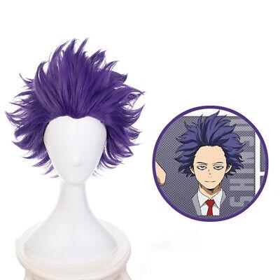 ademia Hitoshi Shinsou Perücke Kurz Haar Cosplay Kostüm Wig (Mein Kostüm Perücken)