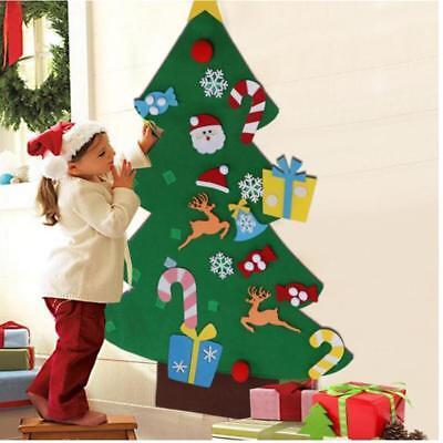 Kids DIY Felt Christmas Tree with Ornaments Xmas Gift New Year Xmas Decor 2018