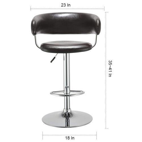 Duhome Pub Bar Stools Adjustable Swivel Bar Chair with Cushi