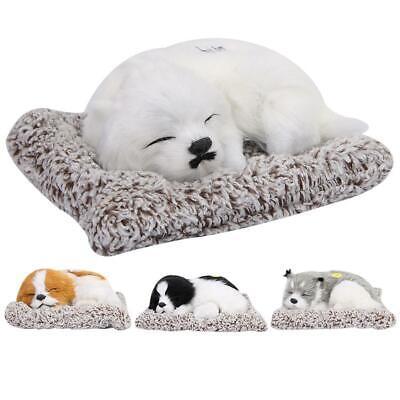 High Simulation Plush Sleeping Dog Ornament Animal Toy Built-in Bamboo Charcoal Bamboo Dog Plush Toy