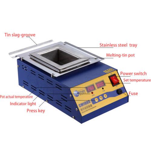 Digital Preheating Soldering Pot / Preheat Station Square Tin Pot 900W CM-150s