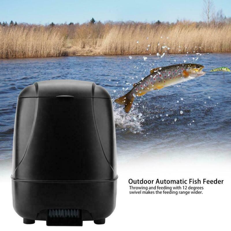Large Capacity Digital LCD Automatic Pond Aquarium Tank Fish Food Feeder Timer