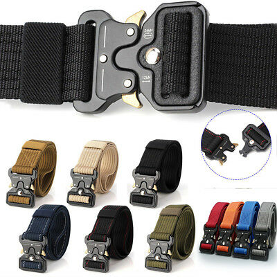 Men Military Belt Buckle Adjustable Combat Waistband Tactical Rescue Rigger Tool ()