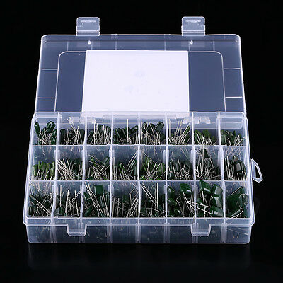 100v 24value 660pcs Polyester Film Capacitor Assorted Kit Box Assorstment