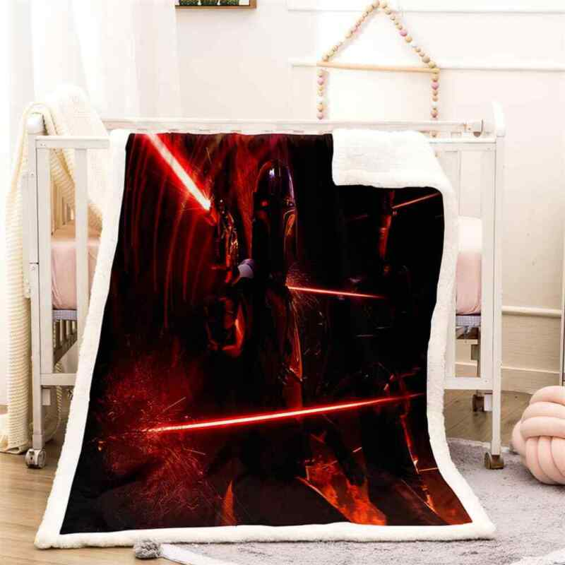 Red Light Cool Tunnel Sword 3D Warm Plush Fleece Blanket Picnic Sofa Couch