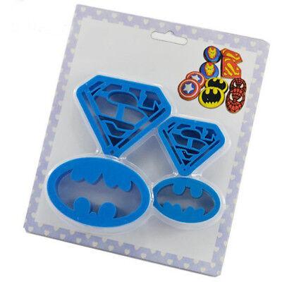 4pcs superman batman plastic mould cookie candy mould cutter set for kids party - Superman For Kids