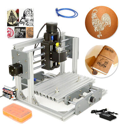 2417 Desktop Mini Engraving Machine Milling Engraver Cnc Router Pcb Metal Diy Us