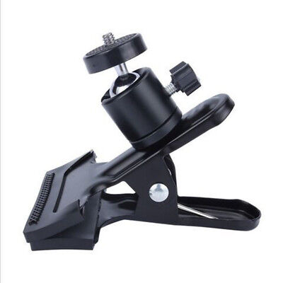 Durable Metal Tripod Mount Clamp Clip Holder with Ball Head for Camera Universal