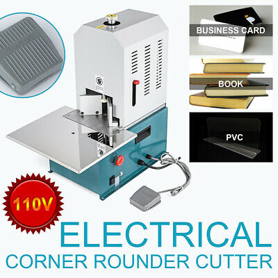 110v Electric Round Corner Cutter Corner Rounding Machine With 7 Build In Dies