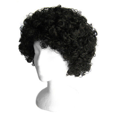 Economy Black Afro Wig ~ HALLOWEEN 60s 70s DISCO CLOWN COSTUME PARTY CURLY - Black Clown Wig