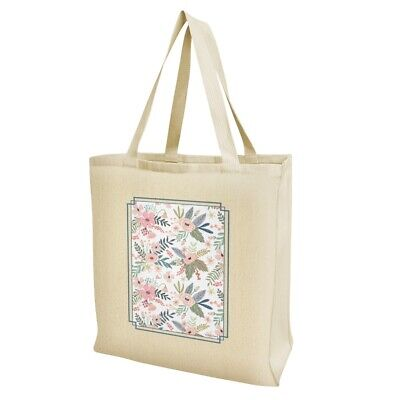 Flowers in a French Garden Grocery Travel Reusable Tote Bag - Garden In A Bag