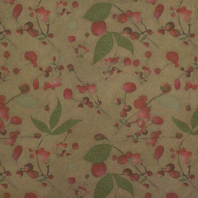 Wild Cherry Blossoms Pattern Premium Kraft Roll Gift Wrap Wrapping Paper Cherry Blossom Wrapping Paper