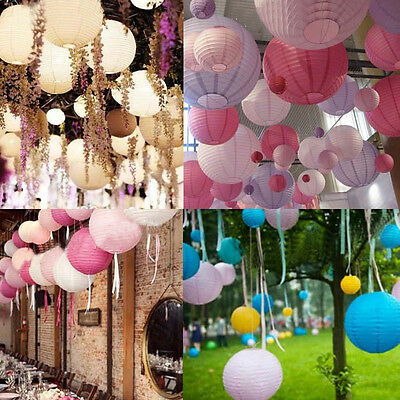 HOT Multicolor Round Chinese Japanese Paper Lanterns Wedding Party Decoration - Japanese Paper Lanterns